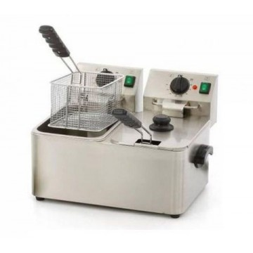 Electric fryer 4+4 liters